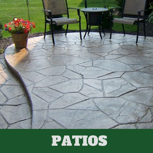 Residential patio in Evanston, IL with a stamped finish.