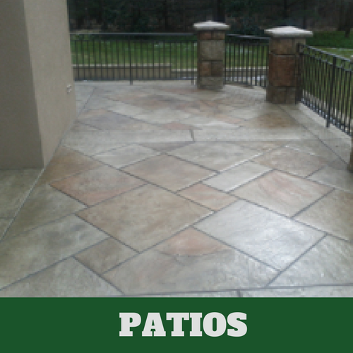 Picture of a stamped patio in Evanston, IL.